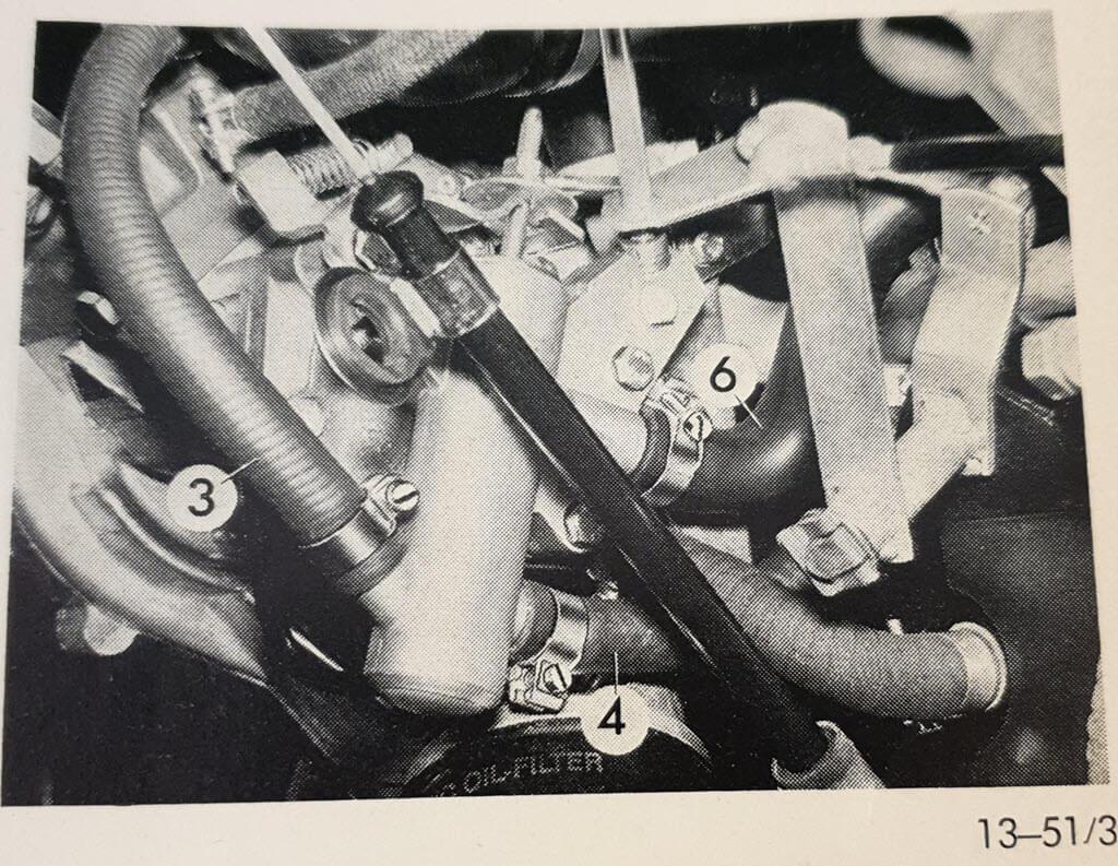 aansluiting koelvloeistof koudstartventiel BMW 2002tii