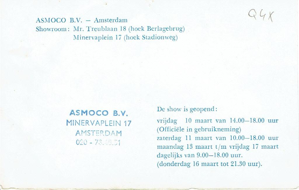 BMW 2000tii Touring uitnodiging Asmoco B.V.