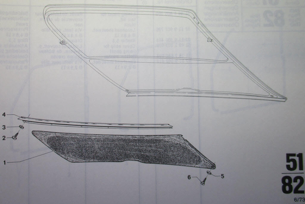 Diagram paneel achterklep BMW 2002 Touring
