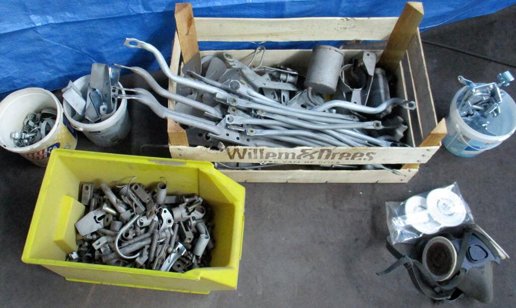 gestraalde auto onderdelen