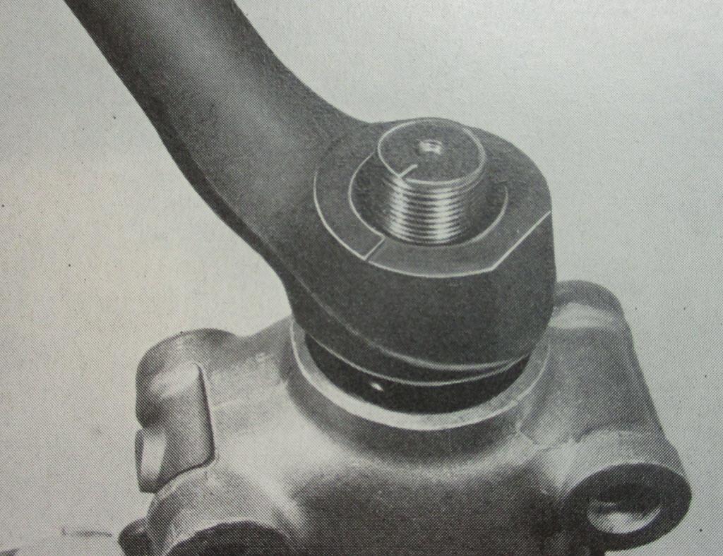markering bevestiging pitman arm op stuurhuis BMW 2002