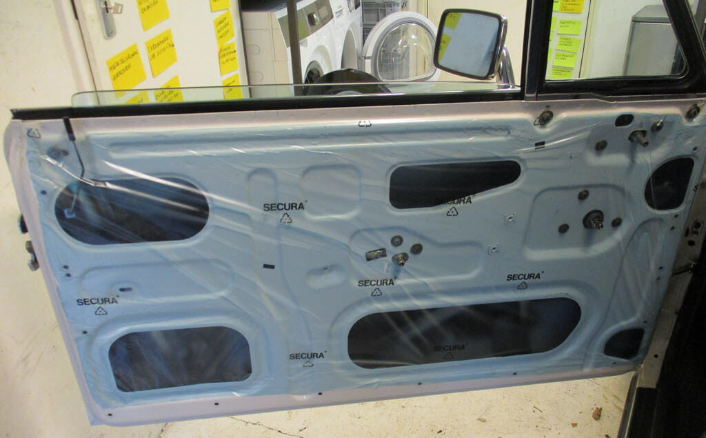 plastic folie deurbekleding BMW 2002