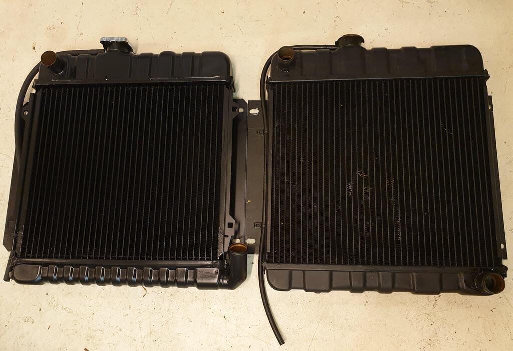 radiateur BMW 2002 airconditioning vs radiateur BMW 2002 standaard