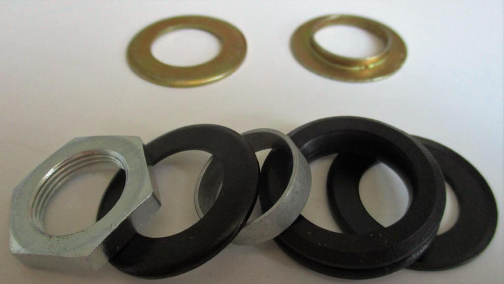 rubberen ringen bovenop ruitenwissermechanisme
