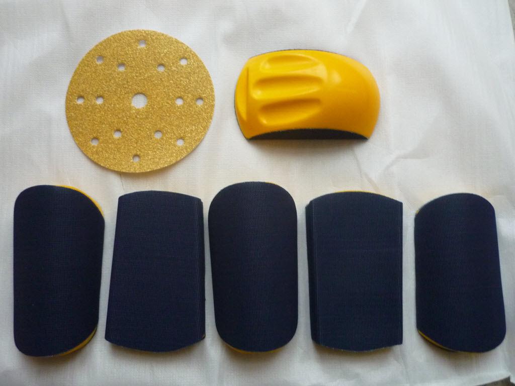 schuurblokje met verschillende opzetstukken