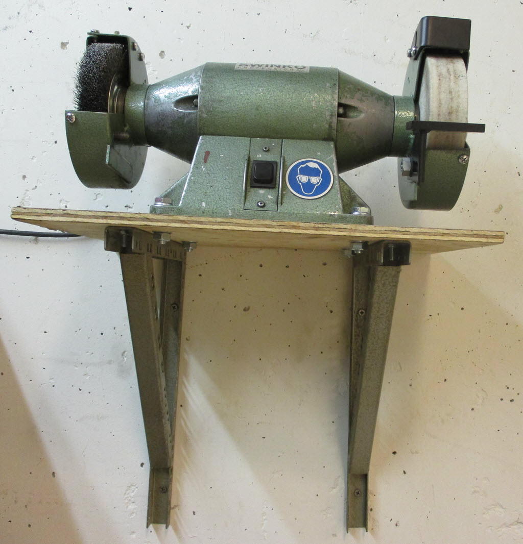 slijpmachine met staalborstel
